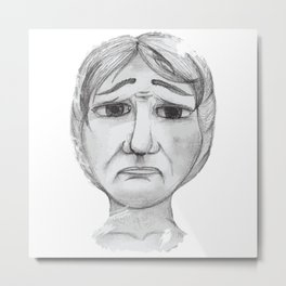 Unhappy Metal Print