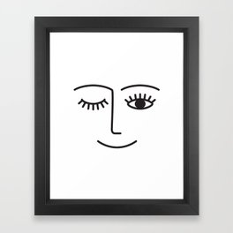 Wink Framed Art Print