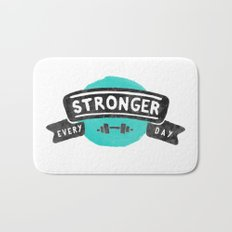 Stronger Every Day (dumbbell) Bath Mat