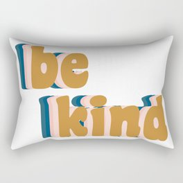 Be Kind Fun Retro Lettering Rectangular Pillow