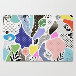 Colorful Memphis Collage Pattern Cutting Board