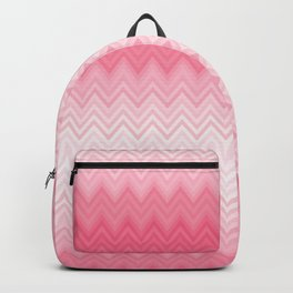 Fading Pink Chevron Backpack