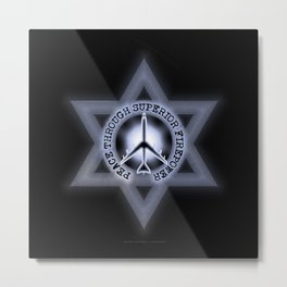 Israel Peace Symbol - 032 Metal Print