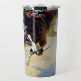 "William Leigh Western Art ""A Fighting Cyclone"" Travel Mug"