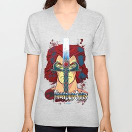 """Sight Beyond Sight"" Thunder Cats Sight Beyond Sight Liono and Sword of Omens Unisex V-Neck"