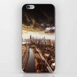 chicago aerial view iPhone Skin