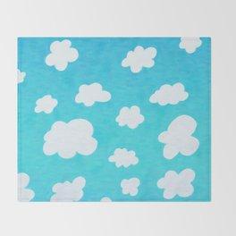 Happy Little Clouds Throw Blanket