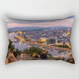 View over Budapest Rectangular Pillow