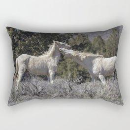 Wild Horses with Playful Spirits No 7 Rectangular Pillow