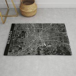 Houston Black Map Rug