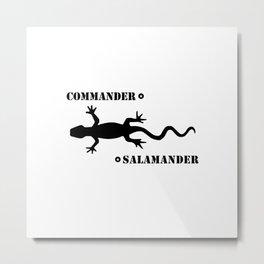 Commander Salamander Metal Print