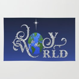 Joy to the World Silver Rug
