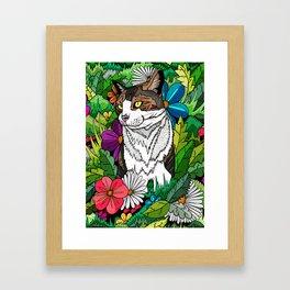 Ellie in the woods Framed Art Print