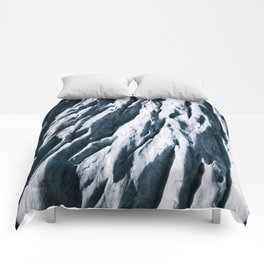 Arctic Glacial Pattern from above - Landscape Photography Comforters