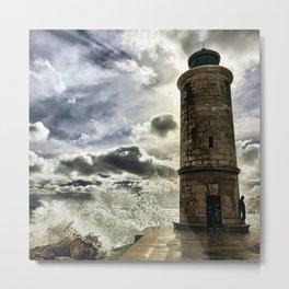 Marseille Lighthouse Old Port Wave Photograph Metal Print