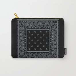 Black and Silver Bandana Carry-All Pouch