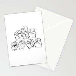 Awesome American Sign Language design Gift Awesome ASL graphic Stationery Cards