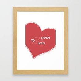 Something about love Framed Art Print