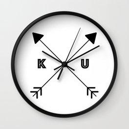 Kansas x KU Wall Clock