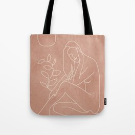 Engraved Nude Line I Tote Bag