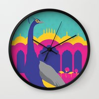 india Wall Clocks featuring India by Kapil Bhagat