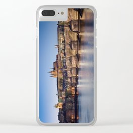 Prague Castle and Charles Bridge Clear iPhone Case