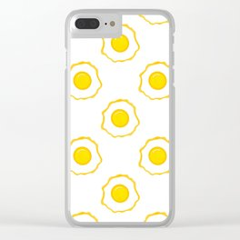 Eggs Pattern Clear iPhone Case