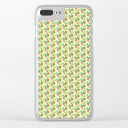Summer Flower And Lemon Pattern Clear iPhone Case