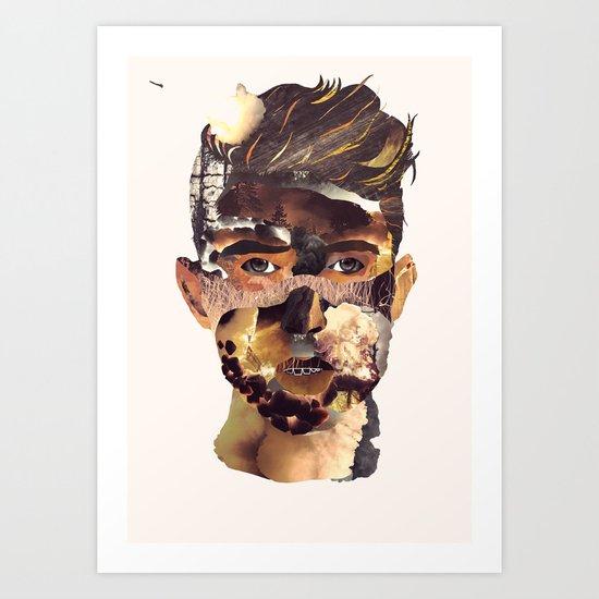 Fire Head Art Print