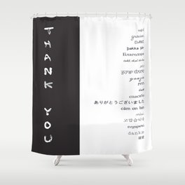 Multilingual Thank You Shower Curtain