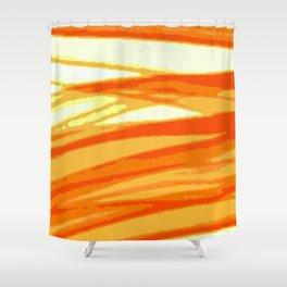 Orange Blur Shower Curtain