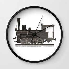 Locomotive Black Max Wall Clock