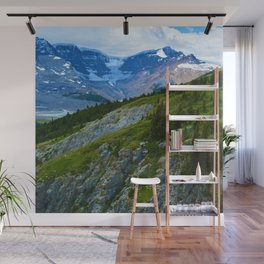 Views along the Wilcox Pass Hike in Jasper National Park, Canada Wall Mural