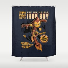 THE INVINCIBLE IRON BOY Shower Curtain