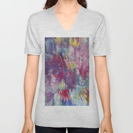 Abstract 170 Unisex V-Neck