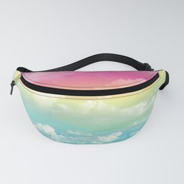 Clouds in a Rainbow Unicorn Sky Fanny Pack