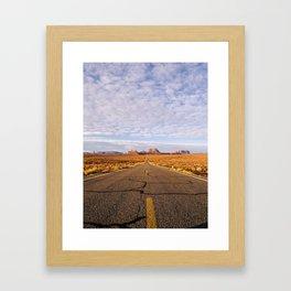 Desert Highway Framed Art Print