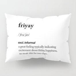 Friyay black and white contemporary minimalism typography design home wall decor bedroom Pillow Sham