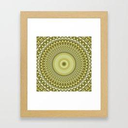 Fractal Kaleido Study 003 in CMR Framed Art Print
