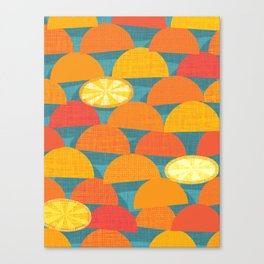 Squeeze Me.Teal Canvas Print