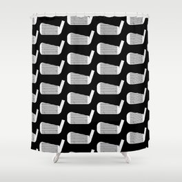 Golf Club Head Vintage Pattern (Black/White) Shower Curtain