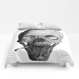 Smoking Skull Comforters