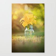 Joyful Yellow Canvas Print