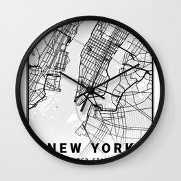 New York Light City Map Wall Clock