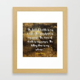 An Ember in the Ashes Framed Art Print