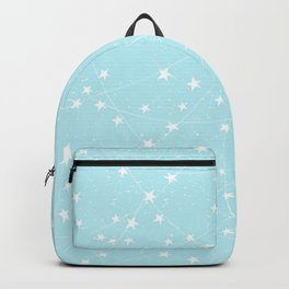 Merry Christmas- Teal Festive Stars X-Mas Pattern Backpack