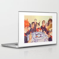 haikyuu Laptop & iPad Skins featuring Post Practice Lunch by AndytheLemon