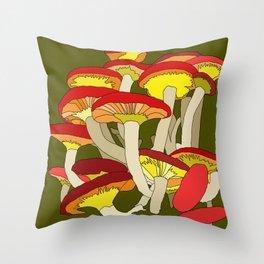 Mushroom Clump #1 Throw Pillow