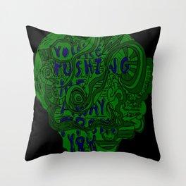 Pushing Me Away From You Throw Pillow
