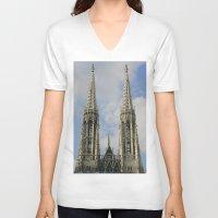 vienna V-neck T-shirts featuring Vienna by Kim Ramage